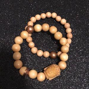 Broken gypsy Buddha bead bracelet
